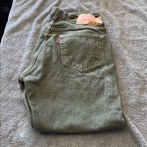 Levi's 501 straight leg button front jeans 34 X 30
